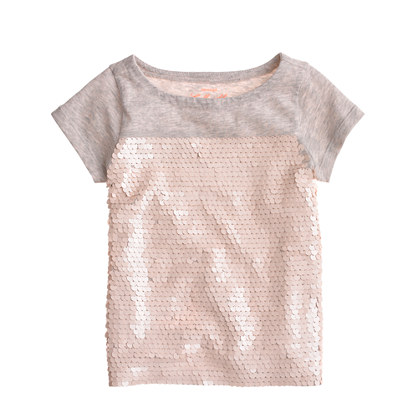 Girls' paillette tee