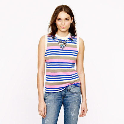 Stripe necklace shell
