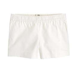 Cotton faille pull-on short