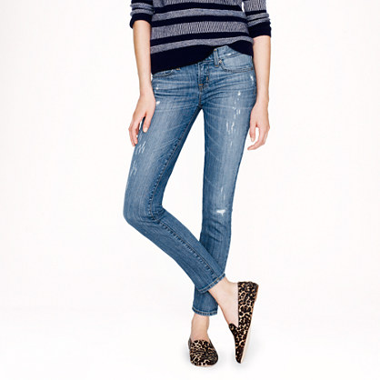 Toothpick jean in distressed Cone Denim®