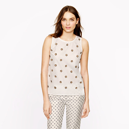 Collection embellished poplin shell