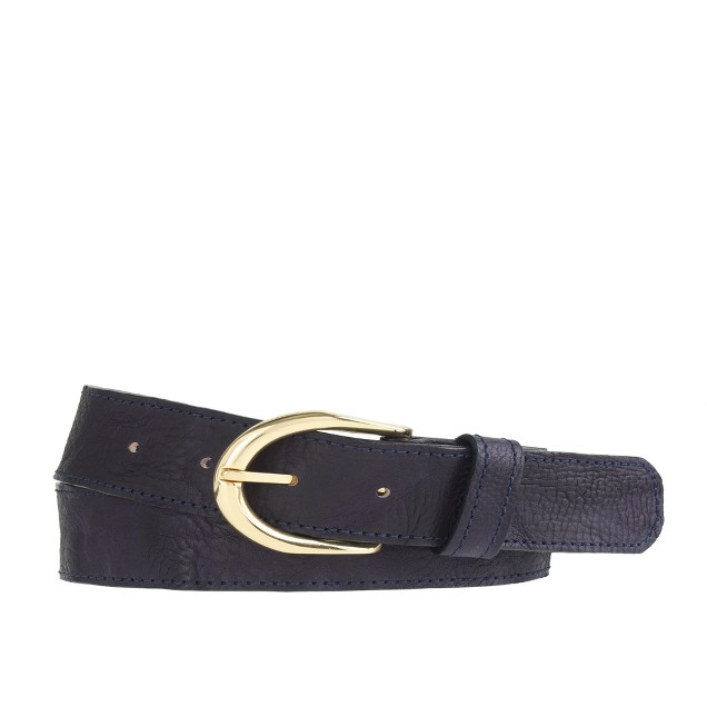 Vintage leather wide belt