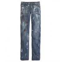 Collection painted vintage straight jean