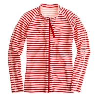 Pret-à-Surf® for J.Crew stripe front-zip rash guard