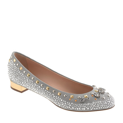 Collection Janey crystal and stud flats