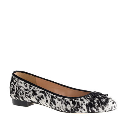Collection Kiki calf hair ballet flats