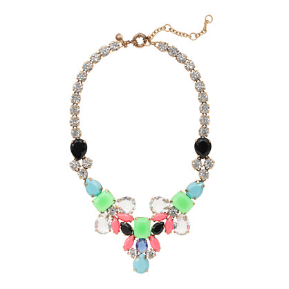 Color collage statement necklace