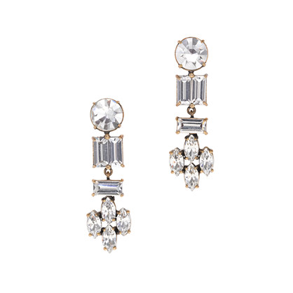 Crystal shapes earrings