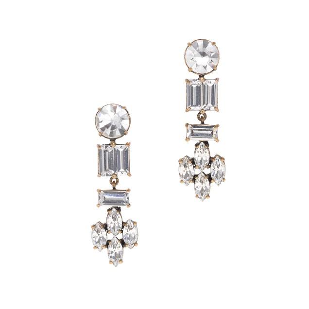 Crystal shapes earrings