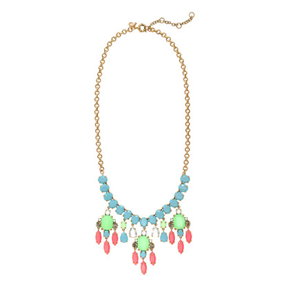 Color collage necklace