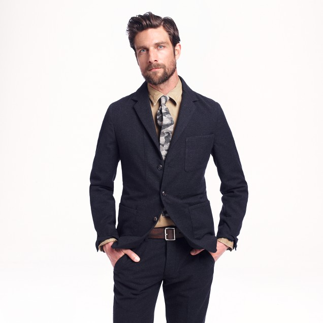 Wallace & Barnes unstructured worker suit jacket