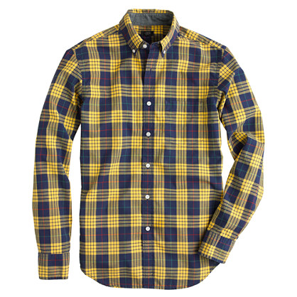 Tartan shirt in sahara yellow