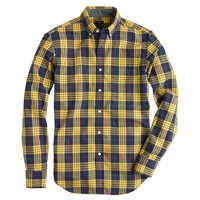 Slim tartan shirt in sahara yellow