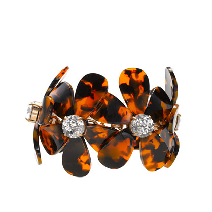 Tortoise flower bracelet