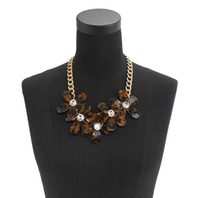 Tortoise flower necklace