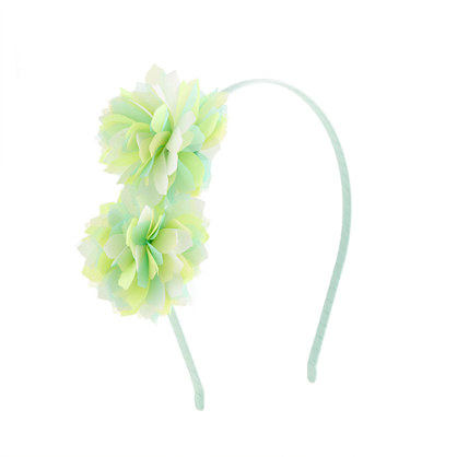 Girls' flutter flower headband