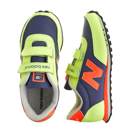 Kids' New Balance® for crewcuts KE410 Velcro® sneakers in neon kiwi