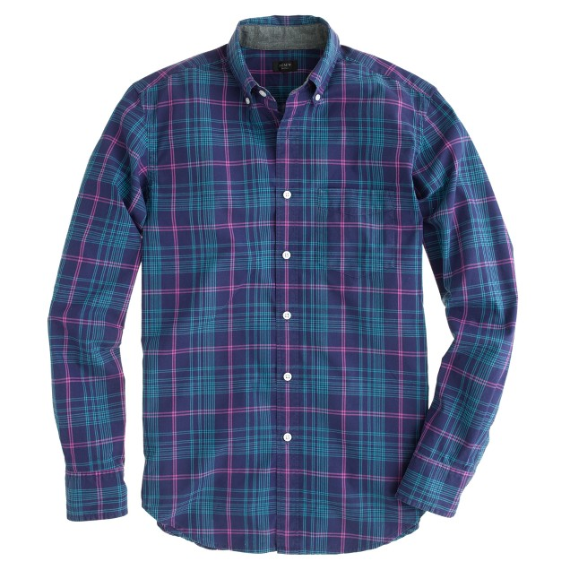 Tartan shirt in rustic purple