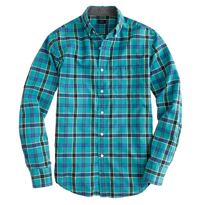 Tall tartan shirt in brunswick blue