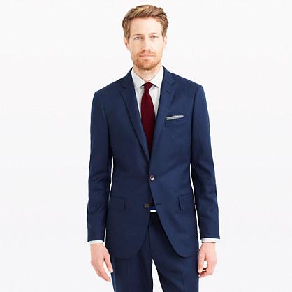 Ludlow suit jacket in Italian wool flannel