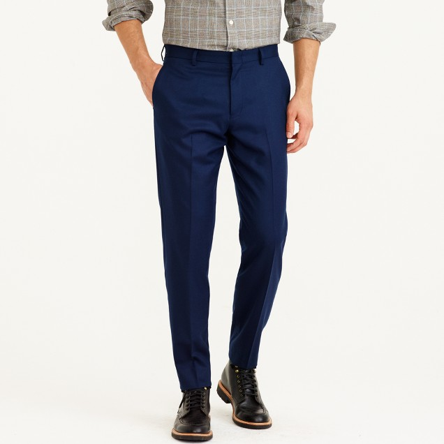 Ludlow suit pant in Italian wool flannel