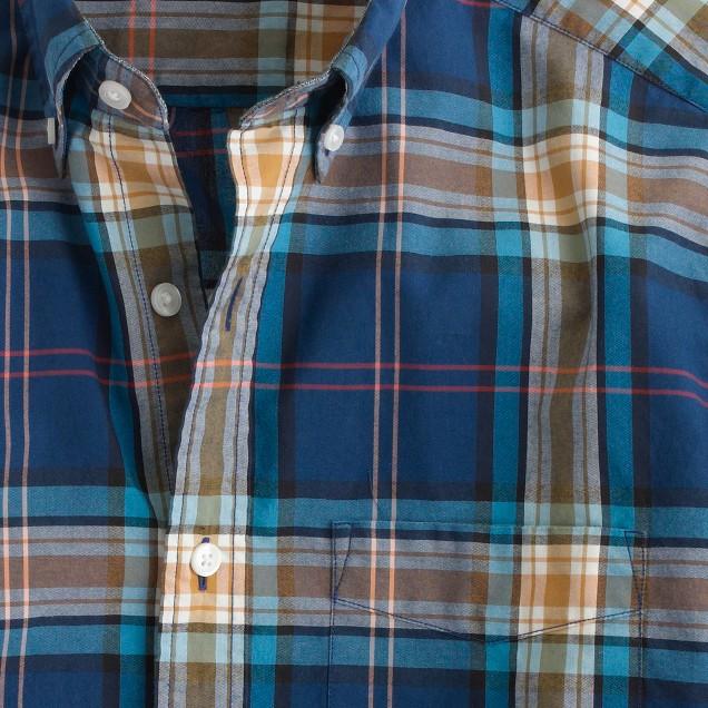 Slim Secret Wash shirt in plaid