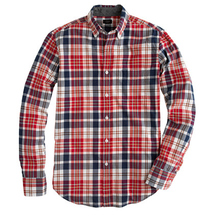 Tartan shirt in chili powder