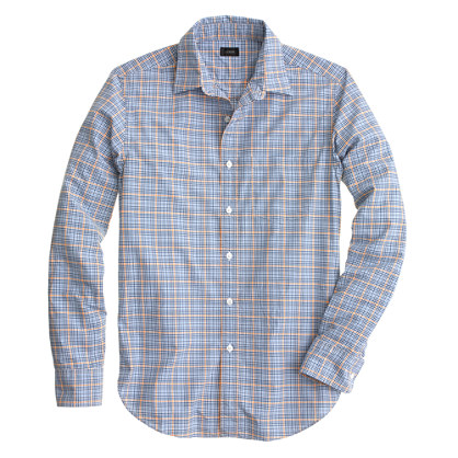 Secret Wash shirt in marigold check