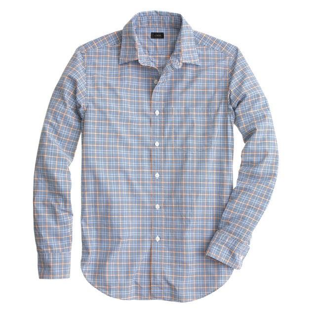 Secret Wash shirt in marigold check