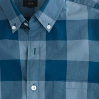 Slim Secret Wash shirt in oversize gingham