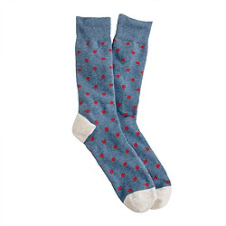J. Crew Medium-dot cotton socks