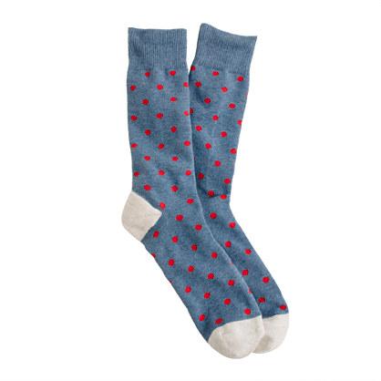 Medium-dot cotton socks
