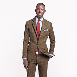 Ludlow suit jacket with double vent in English tweed