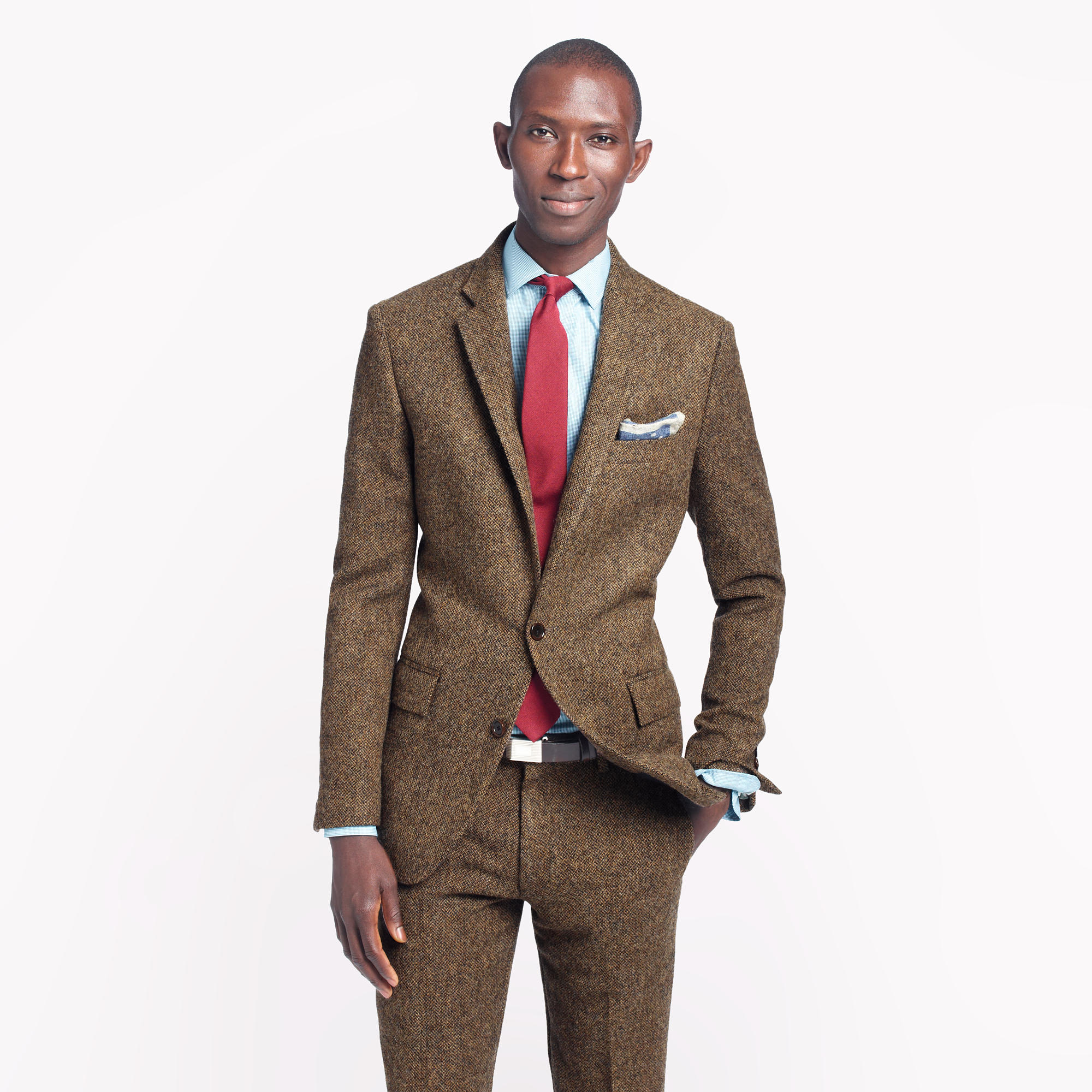 ludlow suit jacket with double vent in english tweed j