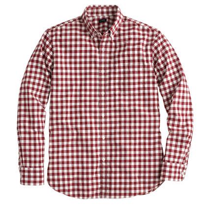 Slim Secret Wash shirt in serene burgundy plaid