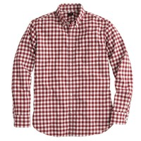 Slim Secret Wash shirt in serene burgundy plaid