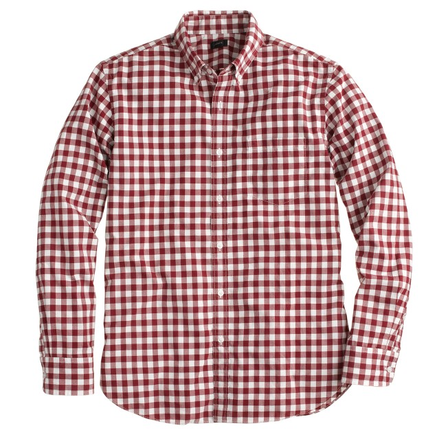 Secret Wash shirt in serene burgundy plaid