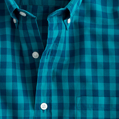 Tall Secret Wash shirt in two-color gingham