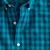 Secret Wash shirt in two-color gingham