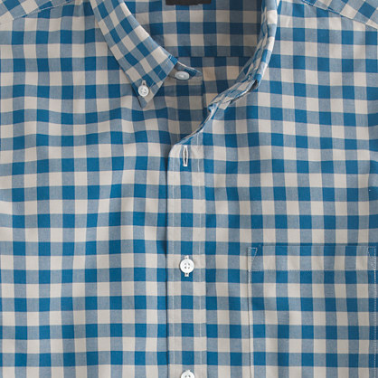 Secret Wash shirt in two-color gingham