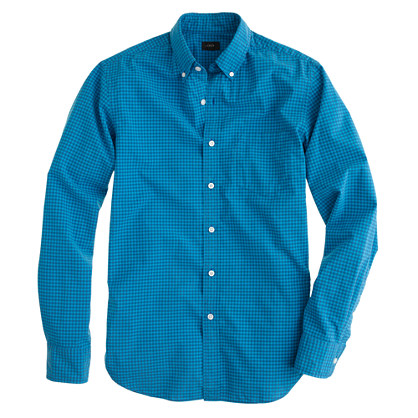 Slim Secret Wash shirt in bright surf gingham