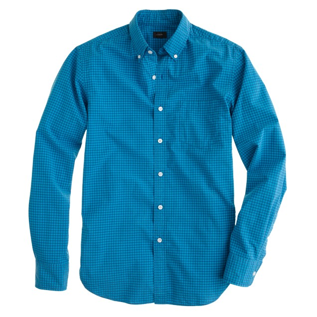Slim Secret Wash shirt in bright surf gingham