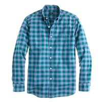 Secret Wash shirt in large two-color gingham