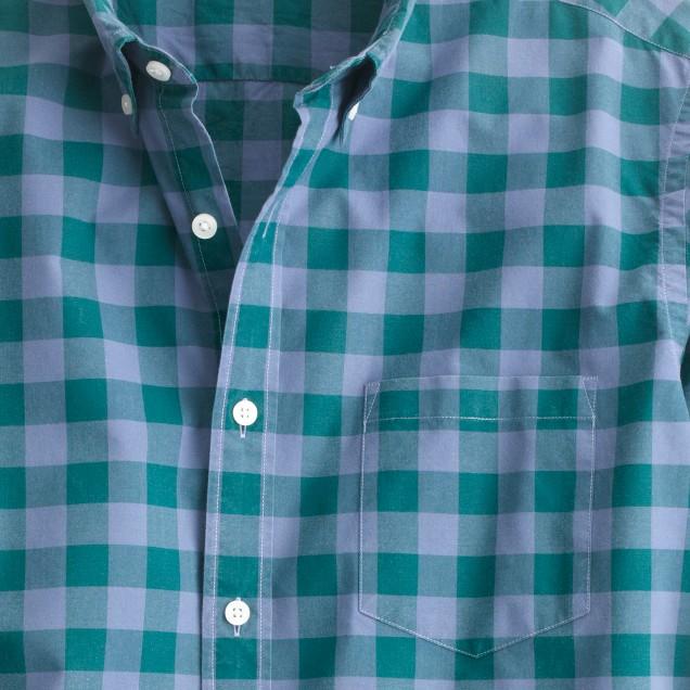 Slim Secret Wash shirt in large two-color gingham