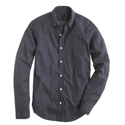 Slim indigo shirt in floral print