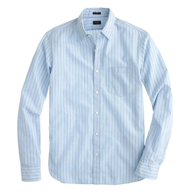 Slim Secret Wash shirt in violet end-on-end stripe