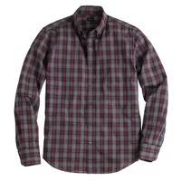 Slim Secret Wash shirt in heron grey plaid