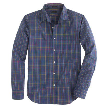 Slim Secret Wash shirt in check