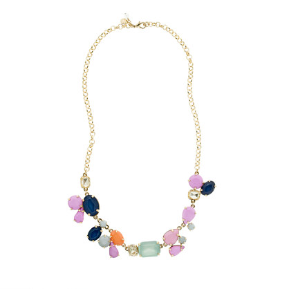 Girls' statement stone necklace