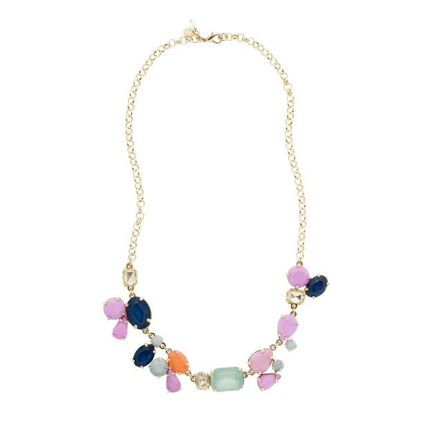 Girls' statement stone necklace
